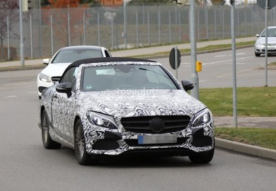 Images Of Mercedes-Benz C-Class Cabriolet Prototype Emerge Again