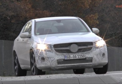 Camouflaged Mercedes-Benz GLC Coupe Plug-In Hybrid Spotted