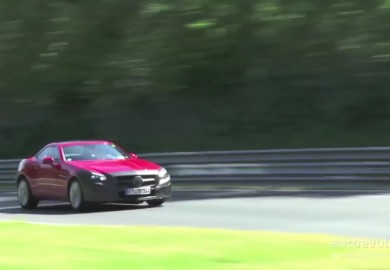 Camouflaged Red Mercedes-Benz SLC Seen At Nürburgring