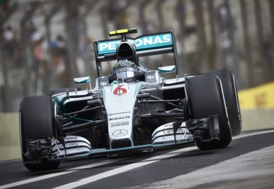Mercedes F1 driver Nico Rosberg takes pole at 2015 Brazilian Grand Prix