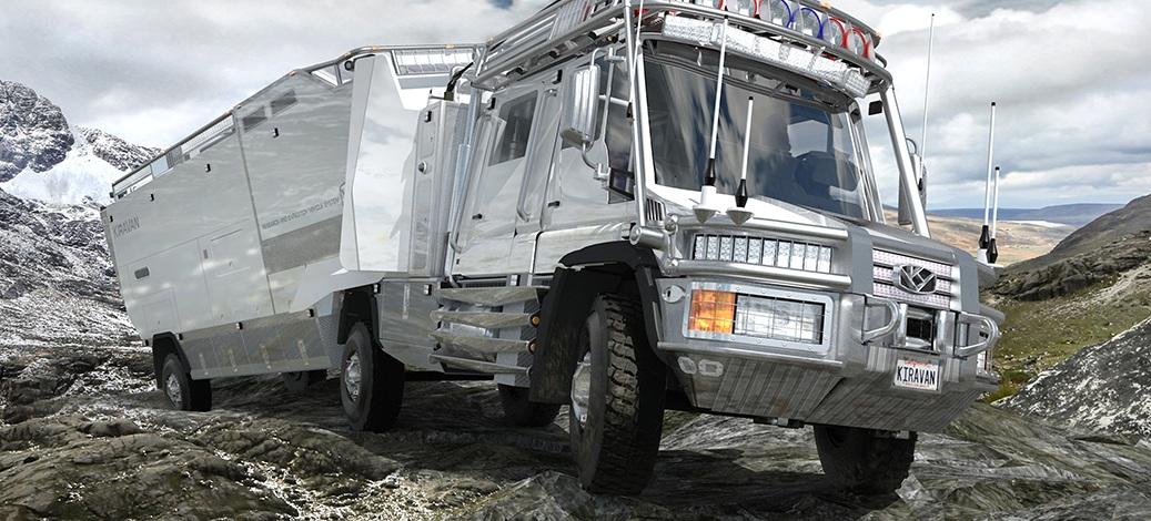 Mercedes-Benz Unimog Turned Into a Massive Mobile Base
