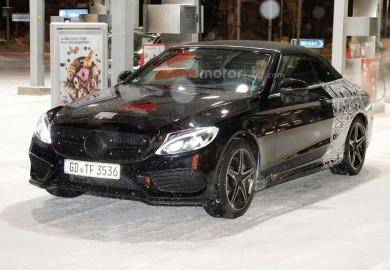 Mercedes-Benz C-Class Convertible Seen Close To The Arctic Circle