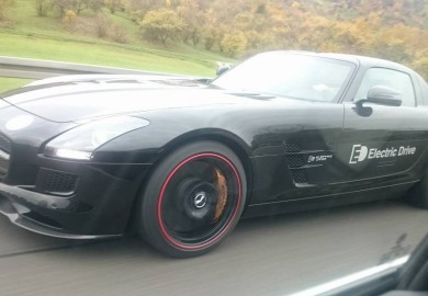 Mercedes-Benz SLS AMG Electric Drive Caught On Camera