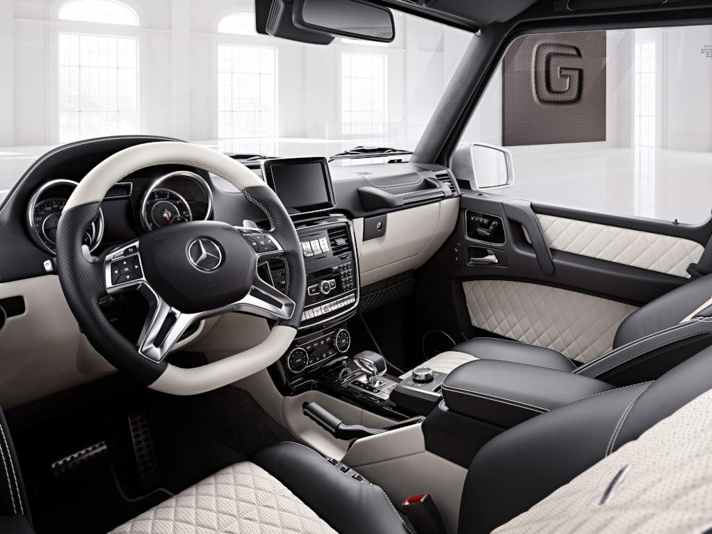 tagged - White G Wagon Red Interior