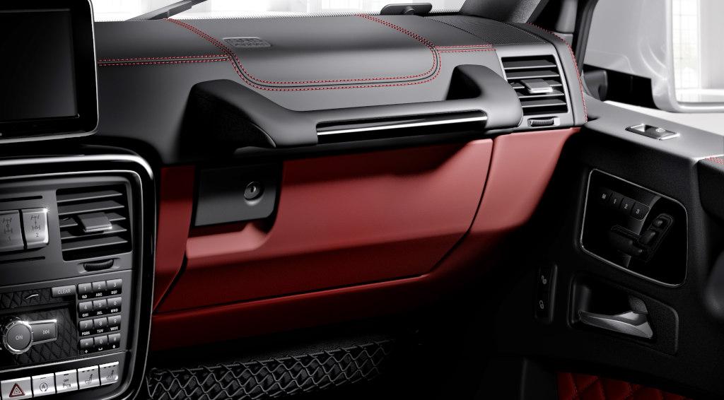 mercedes benz g klasse designo manufaktur interieur zweifarbig schwarzrot mit - G Wagon Red Interior