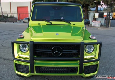 Impressive Wrap Gives Mercedes-Benz G63 A Lime Green Chrome Wrap