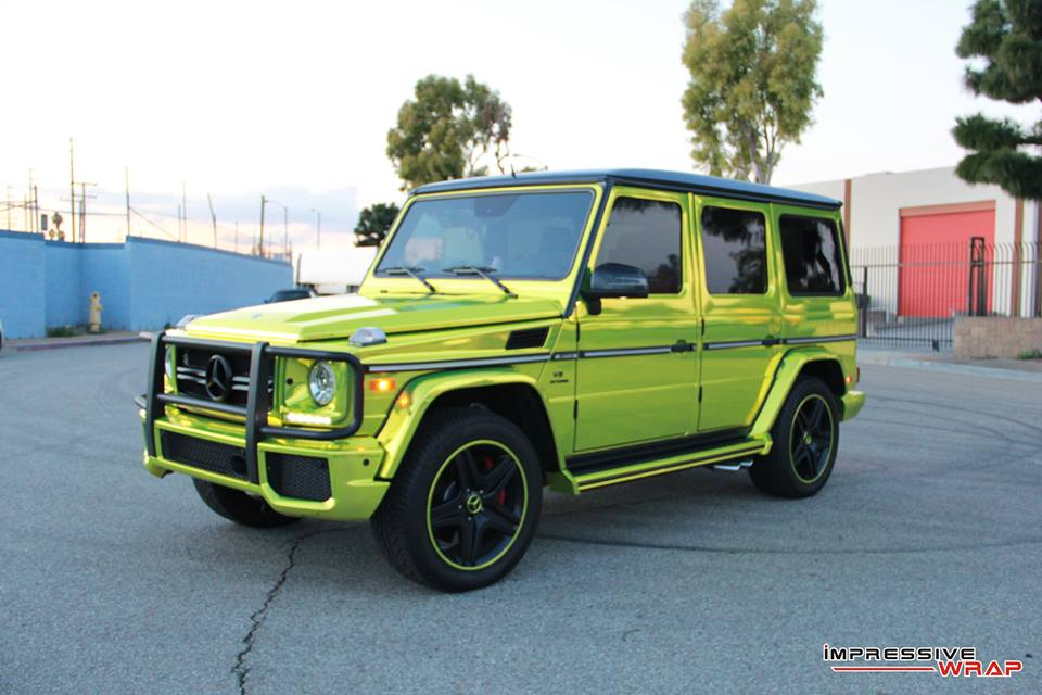 Impressive Wrap Gives Mercedes-Benz G63 A Lime Green ...