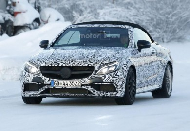 Mercedes-AMG C63 Convertible Spotted Going Through Cold Weather Testing