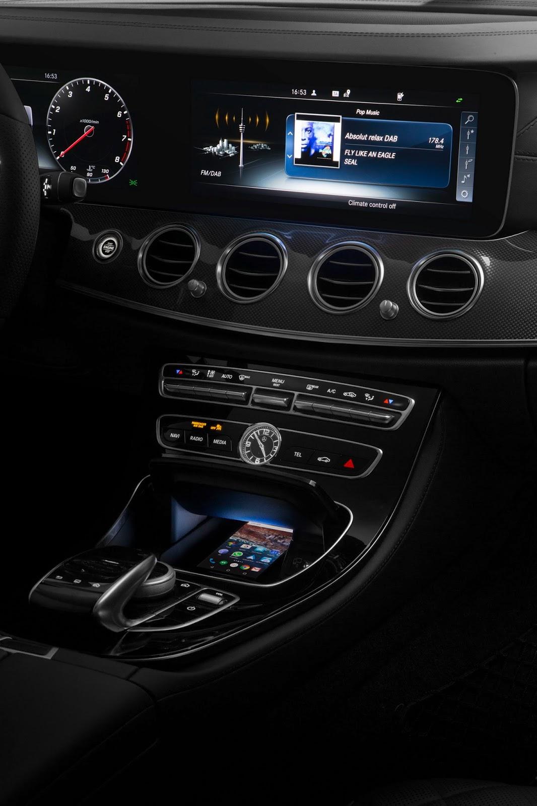2017 Mercedes Benz E Class Dashboard Shown At Ces