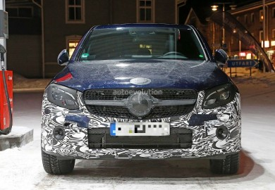 Barely Covered Mercedes-Benz GLC Coupe Spotted
