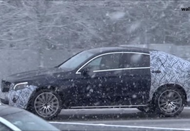 Mercedes-AMG GLC 43 Coupe Spotted Amid Heavy Snow