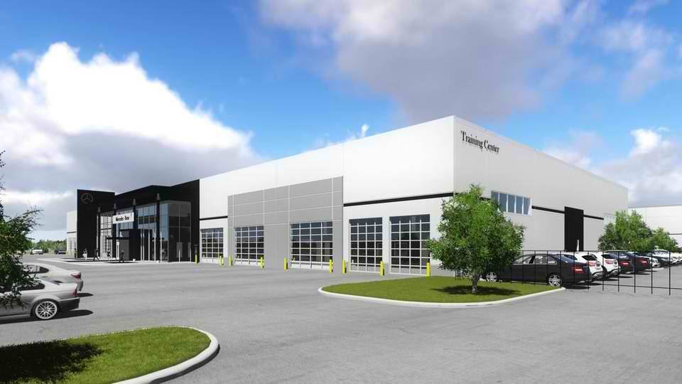mercedes benz planning texas regional distribution and