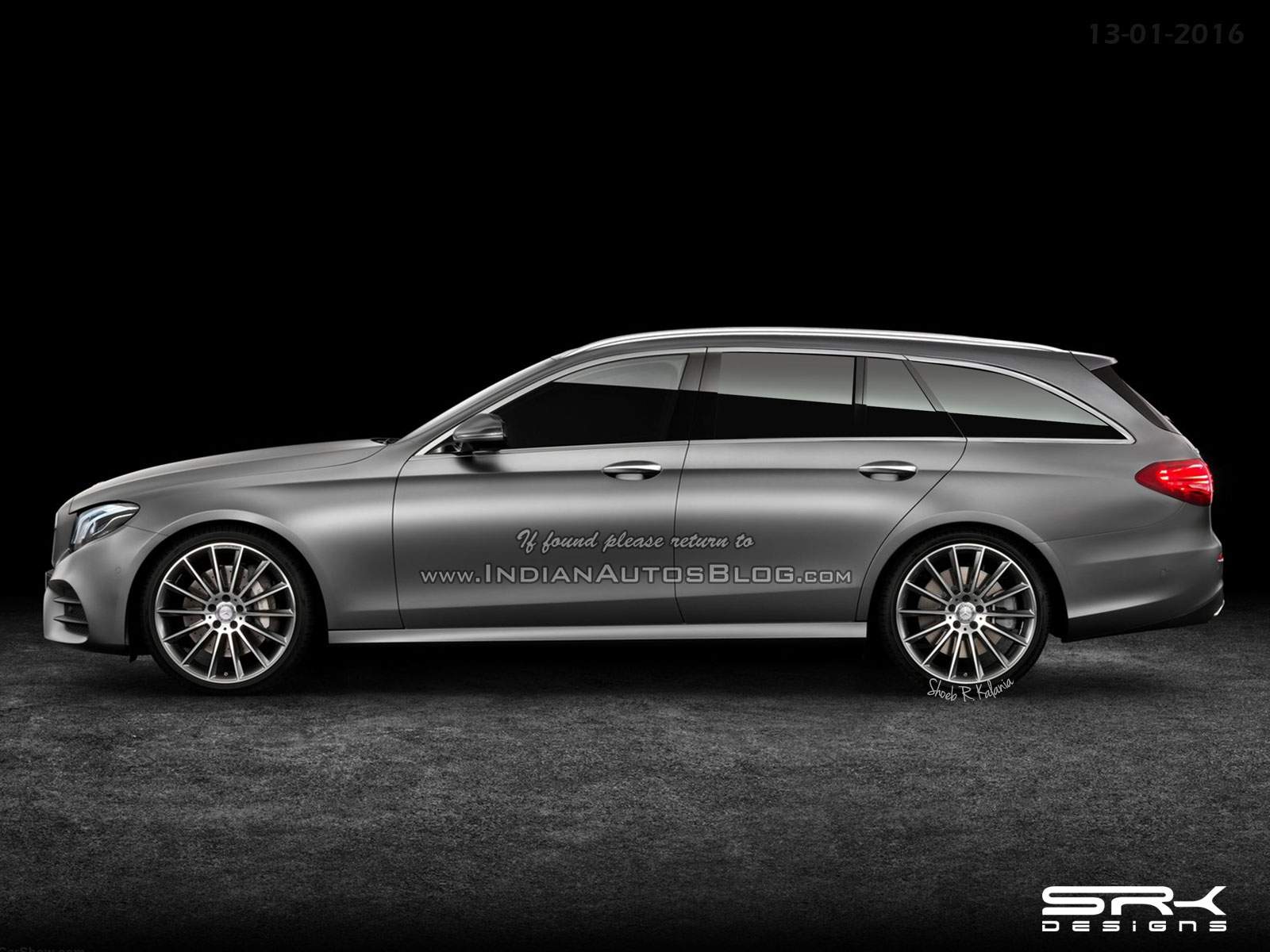 rendering of the mercedes benz e class estate released. Black Bedroom Furniture Sets. Home Design Ideas