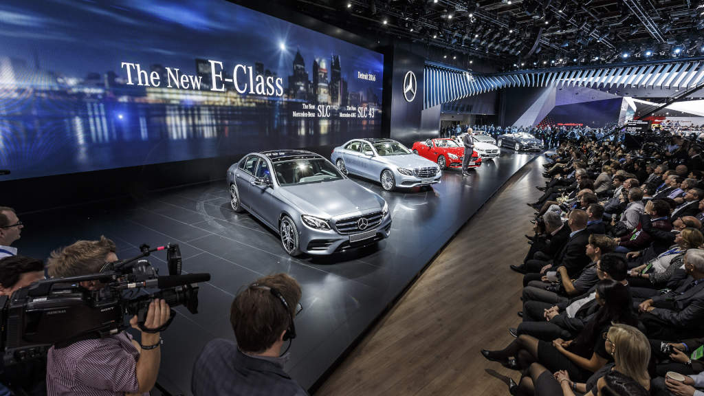 Check out these photos of mercedes benz at naias 2016 for Mercedes benz worldwide sales figures