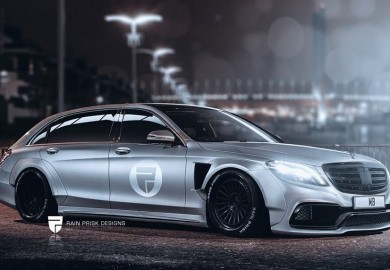 Wide Bodied Mercedes-Benz S-Class Estate Rendered