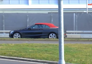 Upcoming Mercedes-Benz C-Class Cabriolet Caught On Cam