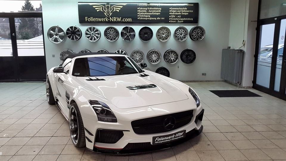 Mercedes-Benz SLS Roadster Given Wide Body By Prior Design
