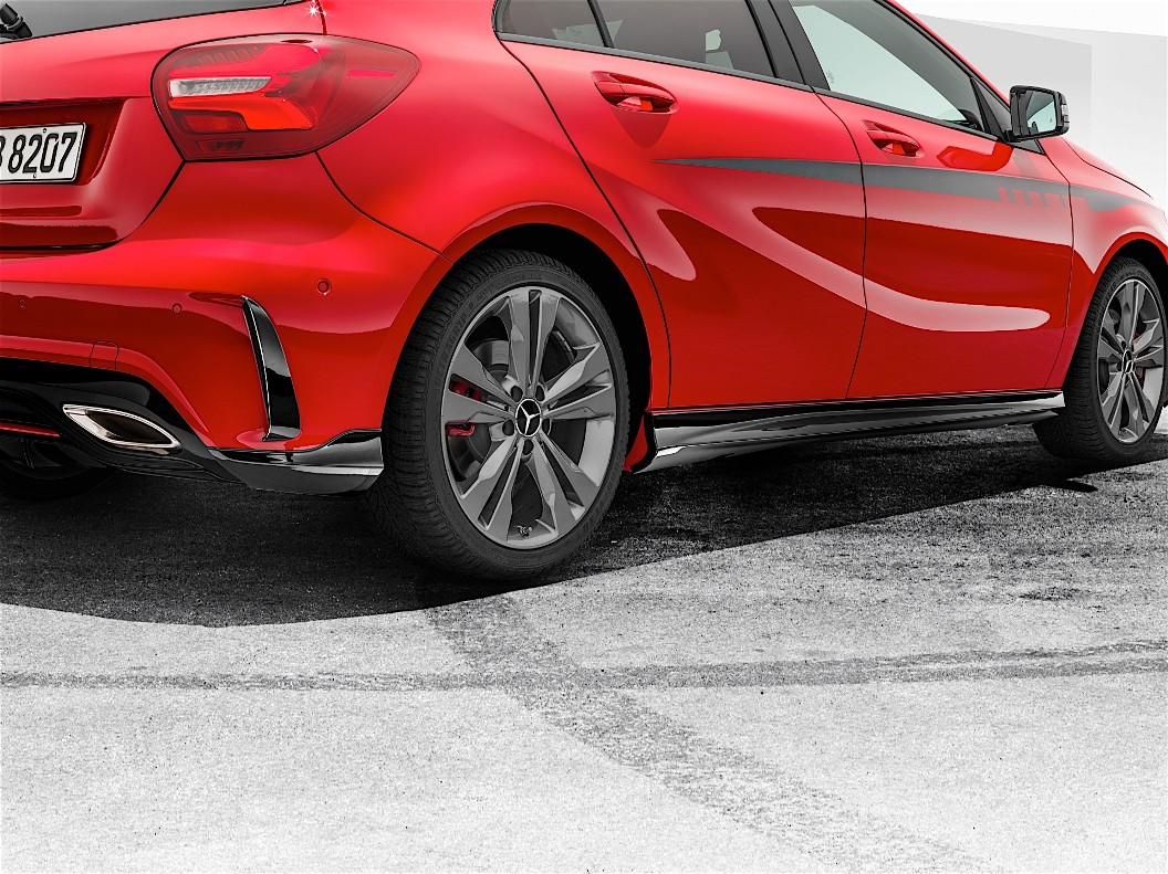 Amg body kit introduced for mercedes benz a class facelift for Mercedes benz body kit