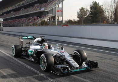 Mercedes AMG Petronas F1 Lewis Hamilton at Barcelona Testing Day 4