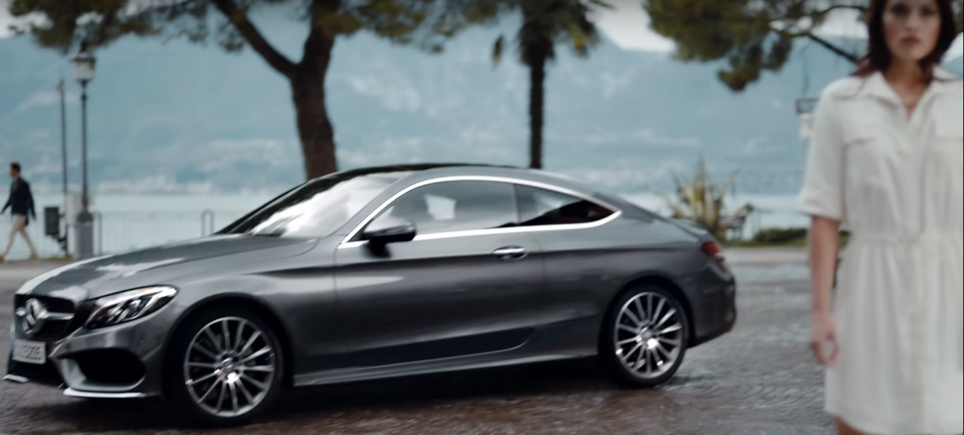 Watch the new mercedes benz c class coupe tv ad for Mercedes benz new advert