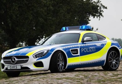 Fierce-Looking Mercedes-AMG GT In Police Uniform