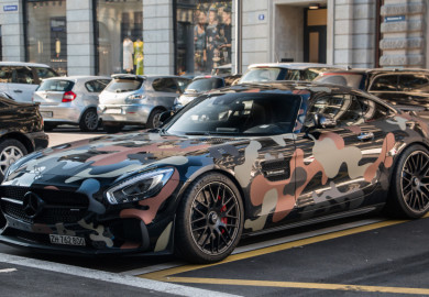 Mercedes-AMG GT Given Military Camouflage