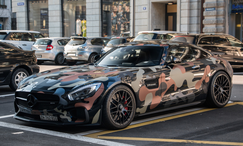 Mercedes Amg Gt Given Military Camouflage Benzinsider
