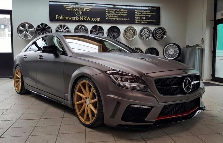 Prior Design Tuned Mercedes Benz Cls Given Matte Charcoal