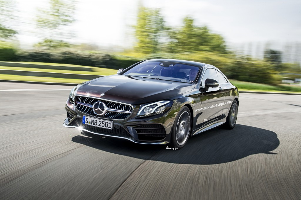 Rendering of new mercedes benz e class coupe shows for Mercedes benz types