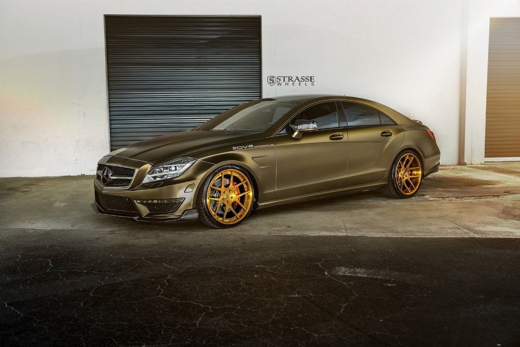 mercedes benz cls63 amg given sm5 deep concave wheels by strasse a mercedes