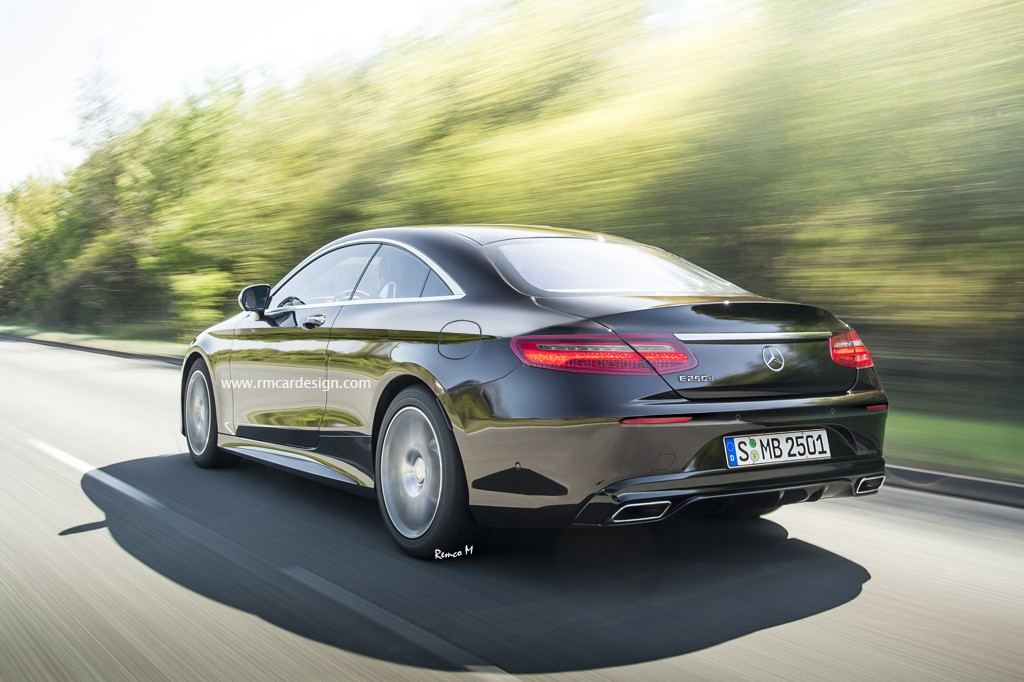 Rendering of new mercedes benz e class coupe shows for Mercedes benz e class models