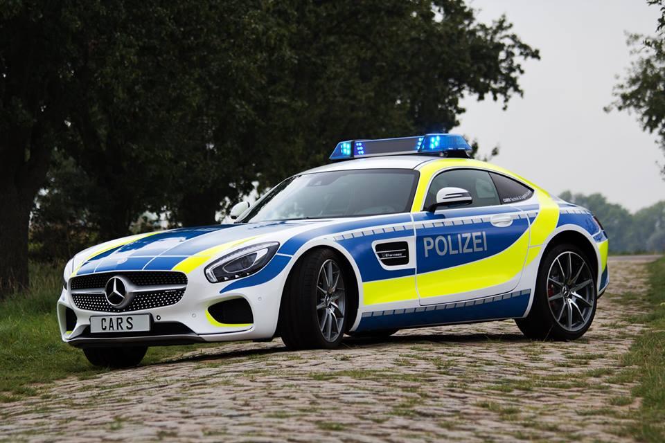 Fierce Looking Mercedes Amg Gt In Police Uniform
