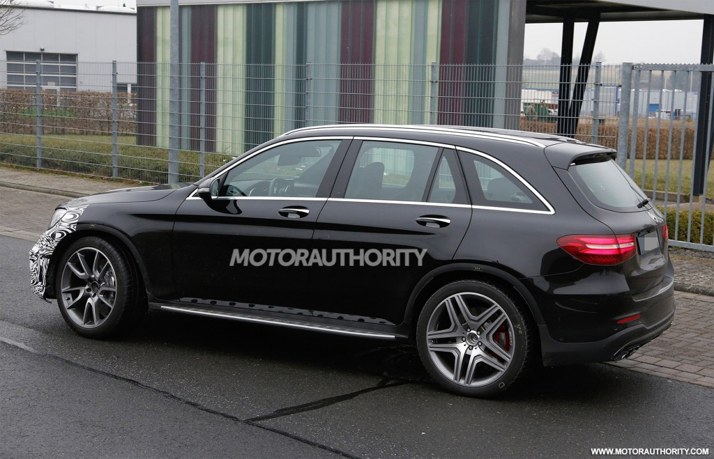 mercedes amg glc 63 spy shots surface online. Black Bedroom Furniture Sets. Home Design Ideas