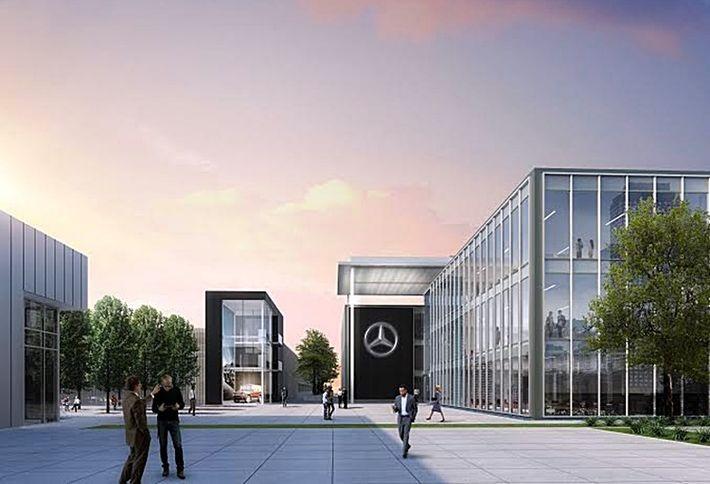 Mercedes benz previews design for new atlanta hq for Mercedes benz north american headquarters