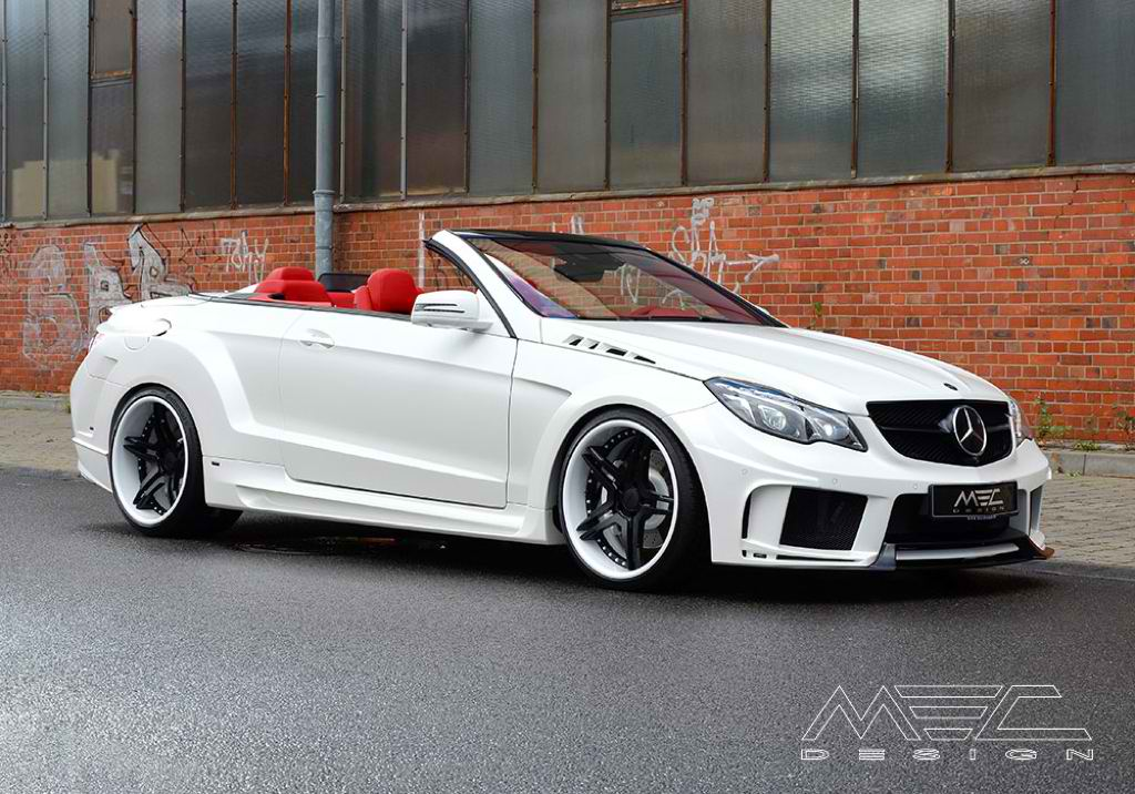 mercedes benz e class cabriolet gets a new look from mec design. Black Bedroom Furniture Sets. Home Design Ideas