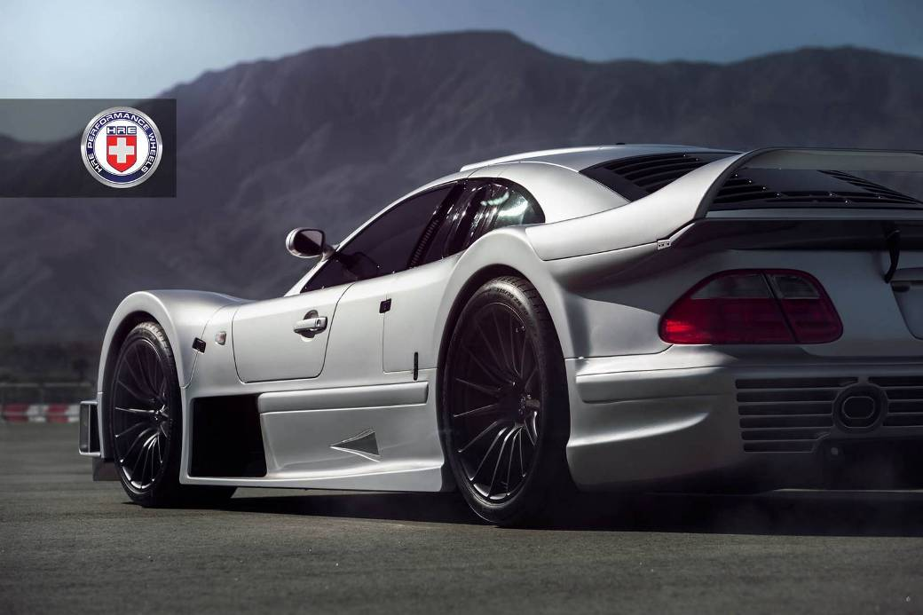 Satin Black HRE Wheels Fitted Into A Mercedes-Benz CLK GTR
