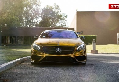 2016 Mercedes-Benz S500 Coupe Looks Impressive In Gold Wrap