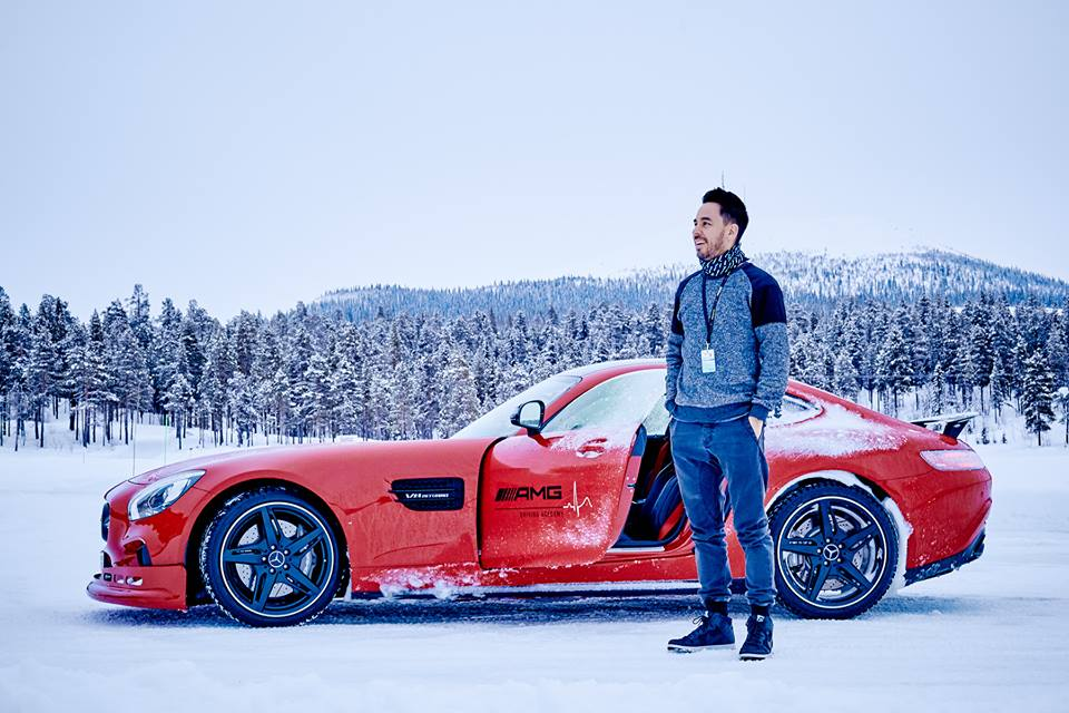 Linkin park visits the mercedes amg driving academy for Mercedes benz winter park
