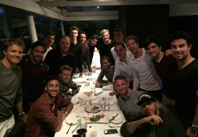 hamilton and rosberg with other f1 drivers