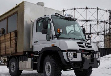 Mercedes-Benz Unimog In Finland Transformed Into A Food Truck