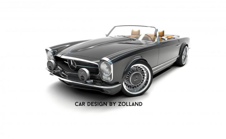 Fifth gen mercedes benz sl gets a retro facelift for Mercedes benz retro