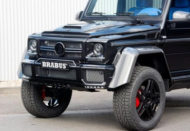 Blue Interior Of Brabus Mercedes-Benz G500 4x4 Highlighted