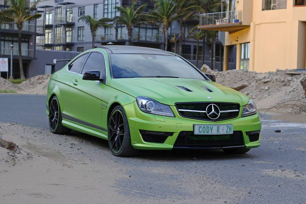 Rare mercedes benz c63 amg coupe legacy edition spotted for Rare mercedes benz