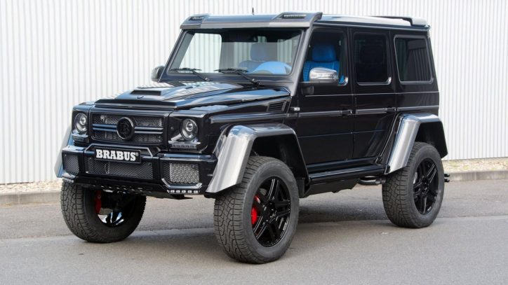 mercedes g wagen 4x4 squared gets tuned by brabus. Black Bedroom Furniture Sets. Home Design Ideas