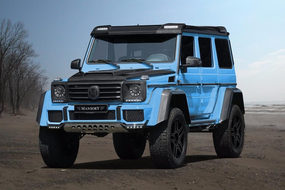mansory tunes the mercedes benz g500 4x4 squared