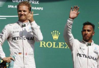 Nico Rosberg Lewis Hamilton 2016 Belgian Grand Prix