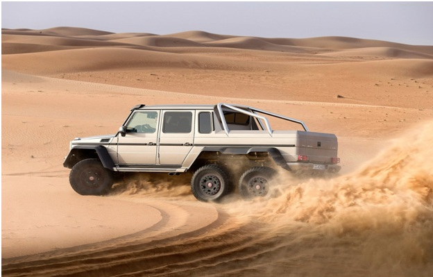 2016 mercedes g63 amg 6x6 the desert daredevil for Mercedes benz palm desert