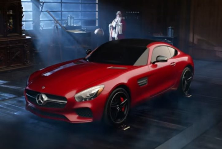 Santa claus gets a new ride this christmas for Mercedes benz winter event commercial