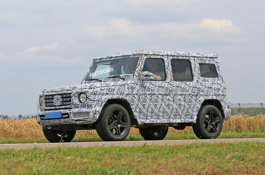 spied 2018 mercedes benz g class. Black Bedroom Furniture Sets. Home Design Ideas