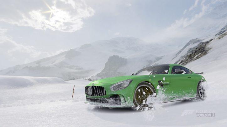 """Mercedes-AMG GT R im Rennspiel """"Forza Horizon 3"""": Winterspaß mit dem Mercedes-AMG GT R"""